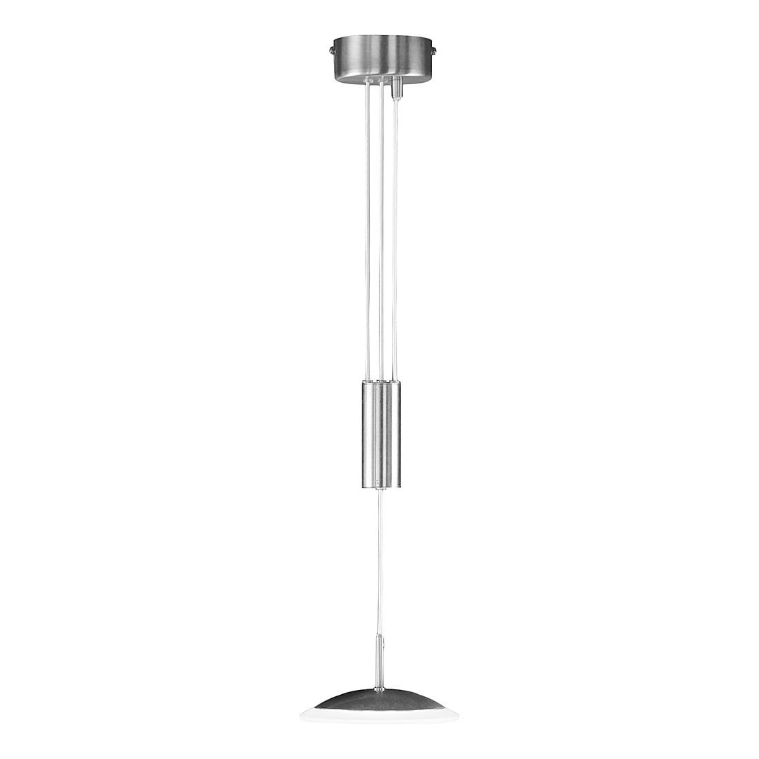 EEK A+, Pendelleuchte Leos – Metall/Glas – Silber – 1-flammig, Honsel günstig online kaufen