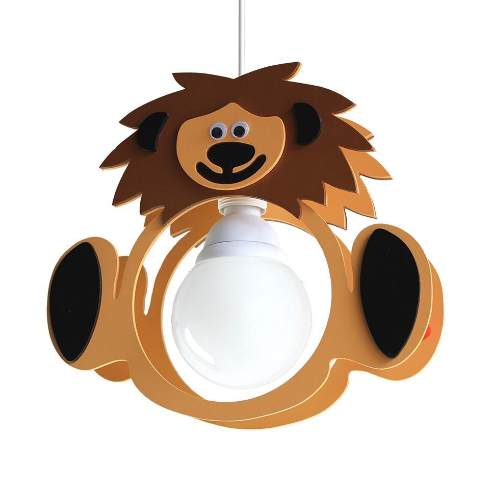 Pendelleuchte Löwe Leo ● Holz ● 1-flammig- Elobra A+