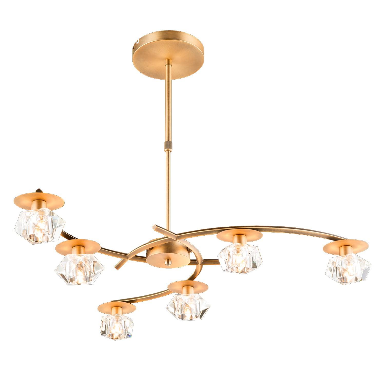 pendelleuchte oberon eisen gold 6 flammig paul neuhaus. Black Bedroom Furniture Sets. Home Design Ideas