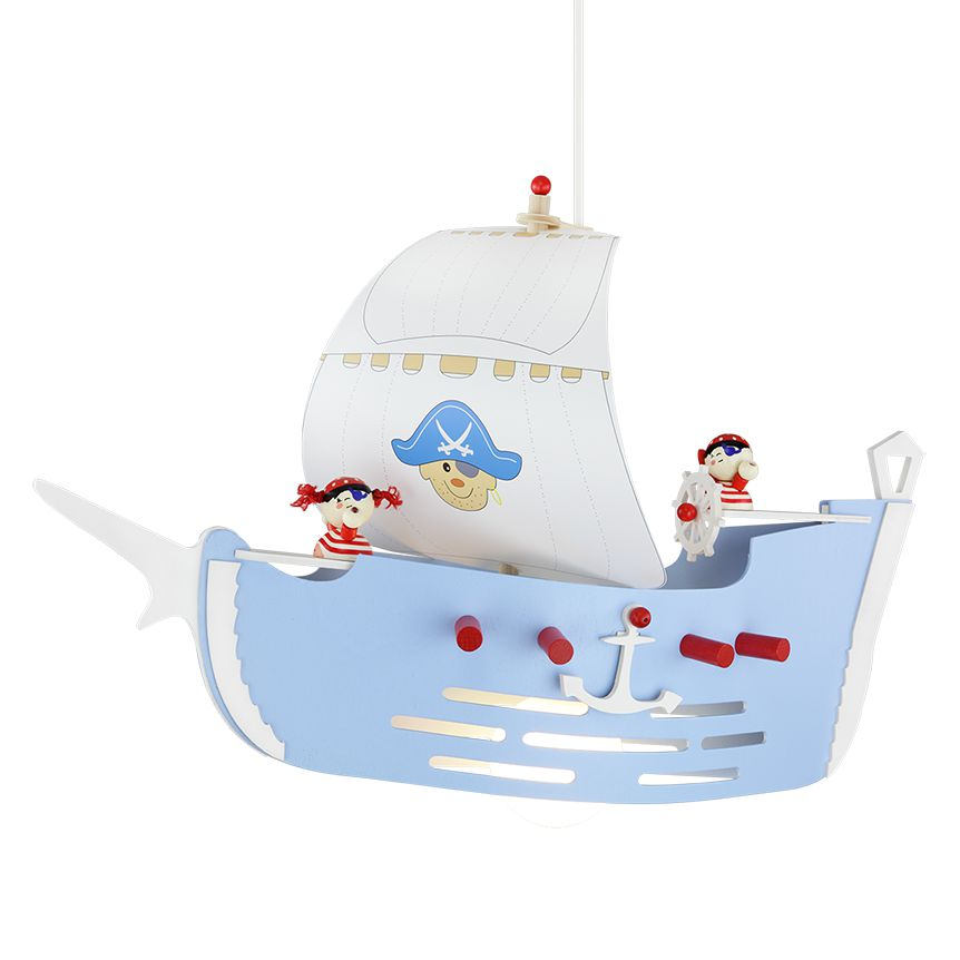 Pendelleuchte Piratenschiff ● Holz ● 1-flammig- Elobra A++