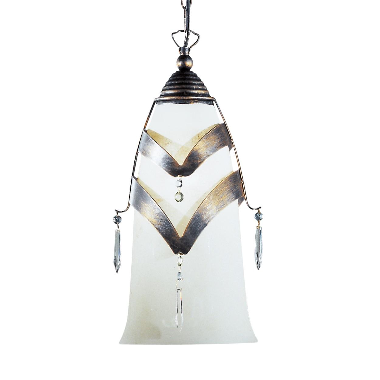 Pendelleuchte Prisma ● Metall/Glas ● Schwarz-Antik ● 1-flammig- Hans Kögl A+