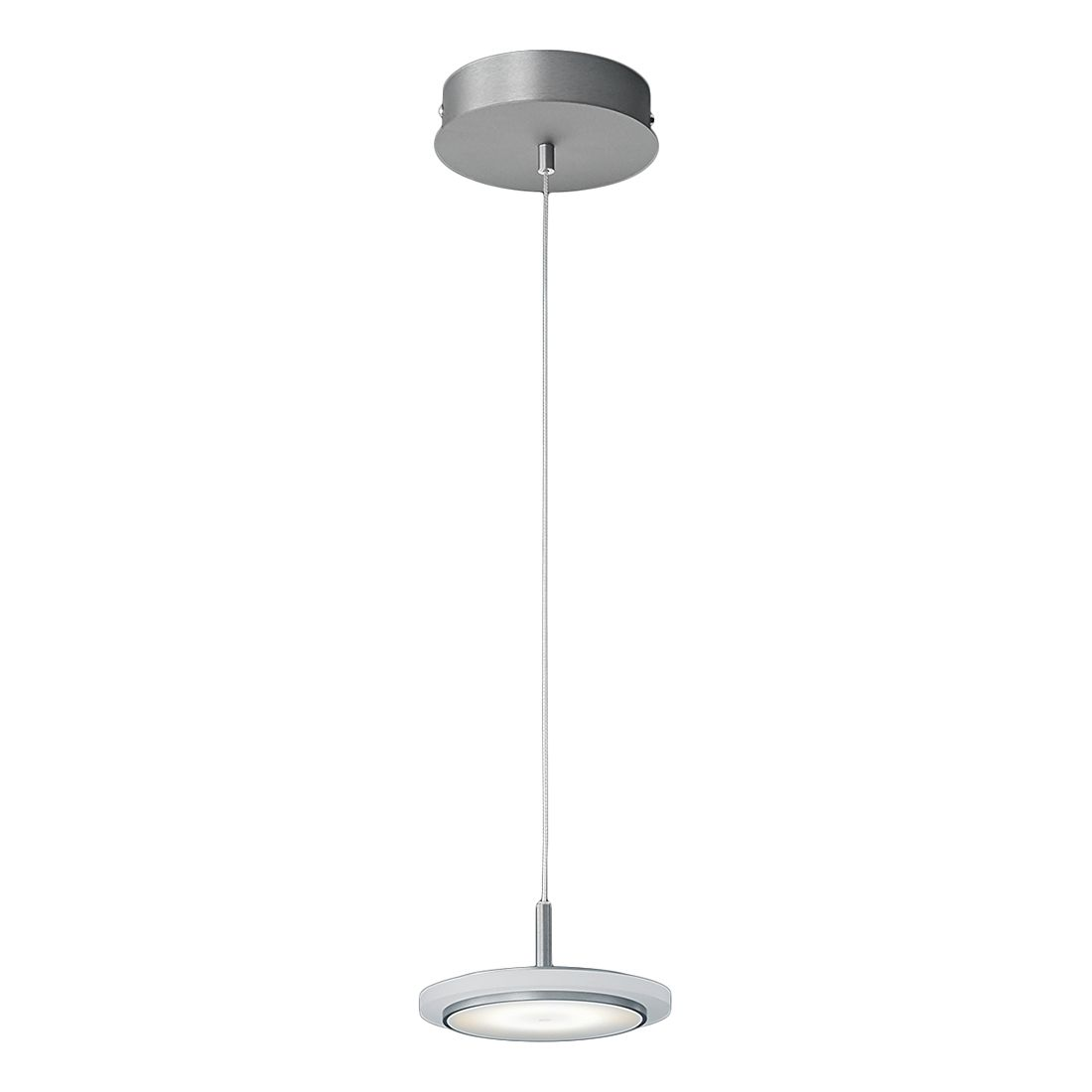 EEK A+, Pendelleuchte RUBI – Metall/Kunststoff – Silber, Helestra günstig online kaufen