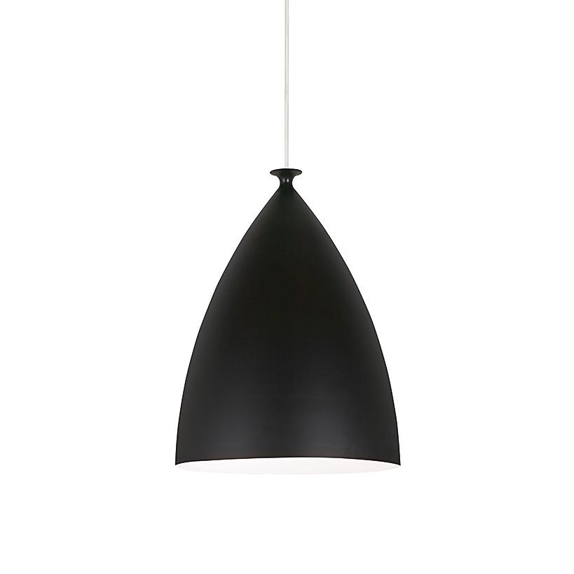 Pendelleuchte Slope ● Metall/Textil ● Schwarz/Weiß ● Durchmesser 22cm- Nordlux