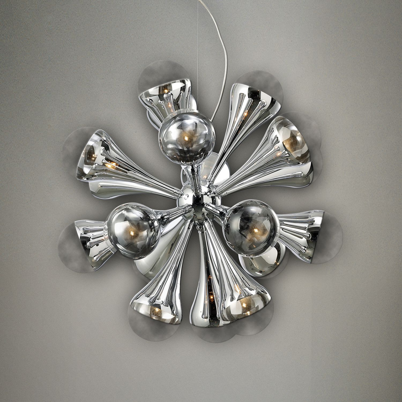 Pendelleuchte Venice by Näve ● Metall ● Silber ● 12-flammig- Näve A++