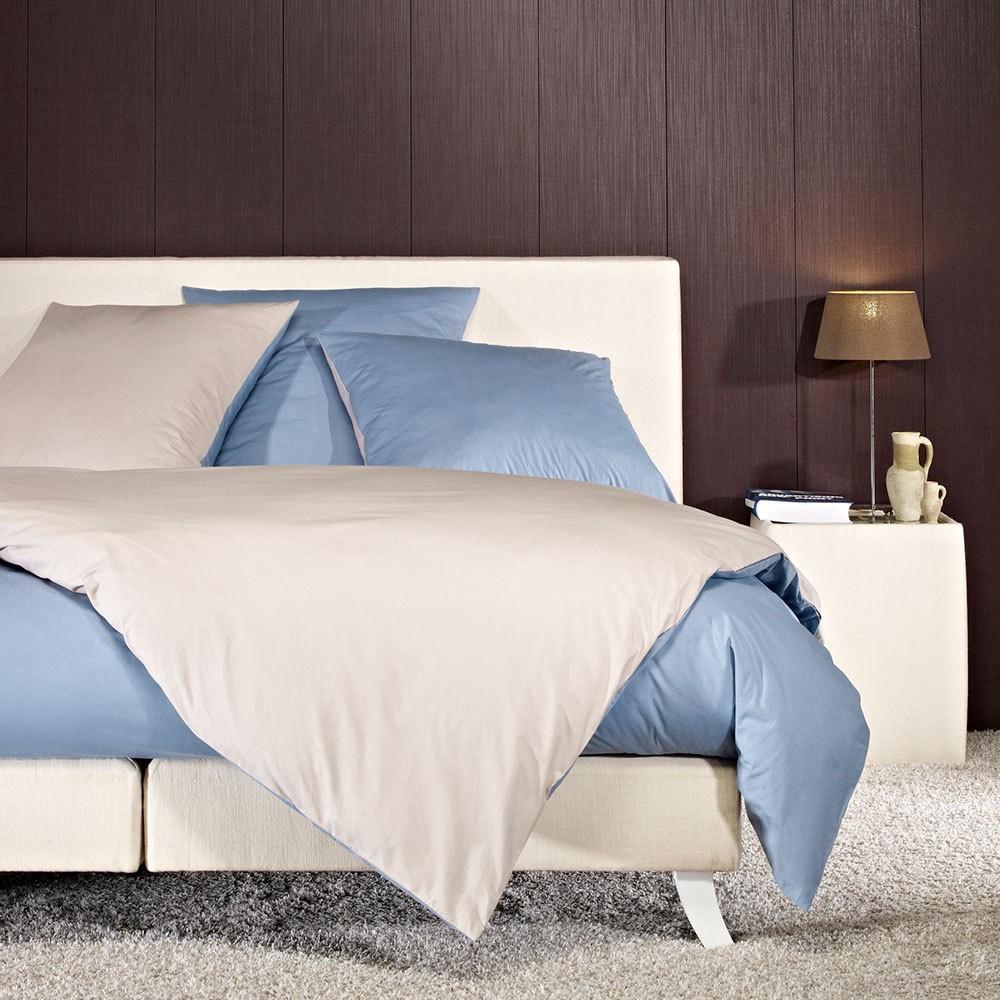 Perkal Wendebettwäsche blau – Baumwolle – Blau – Bettbezug einzeln 135×200 cm, Bettwaren-Shop günstig bestellen