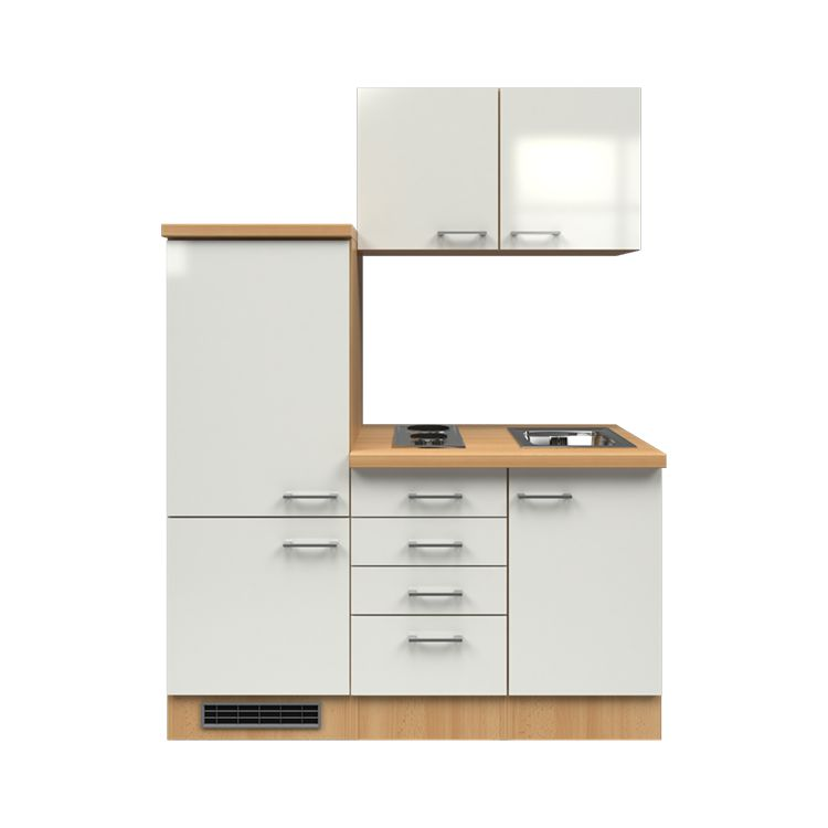 k chenzeile timm einbauger te sp le 160 cm perlglanz softwhite buche dekor modus. Black Bedroom Furniture Sets. Home Design Ideas