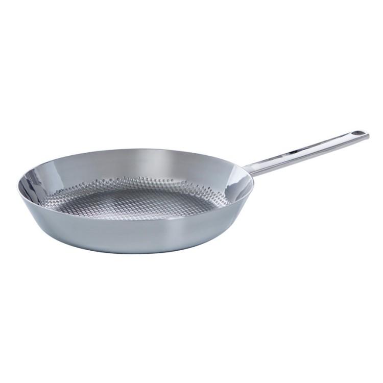 Pfanne Reliefboden Conical Deluxe – Edelstahl Silber, BK Cookware online kaufen
