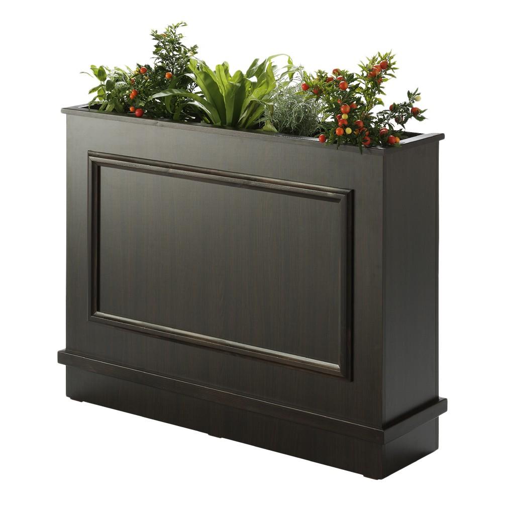 Pflanzen Raumteiler Ebnion – Buche Dunkelbraun – Spanplatte, Möbel Exclusive bestellen