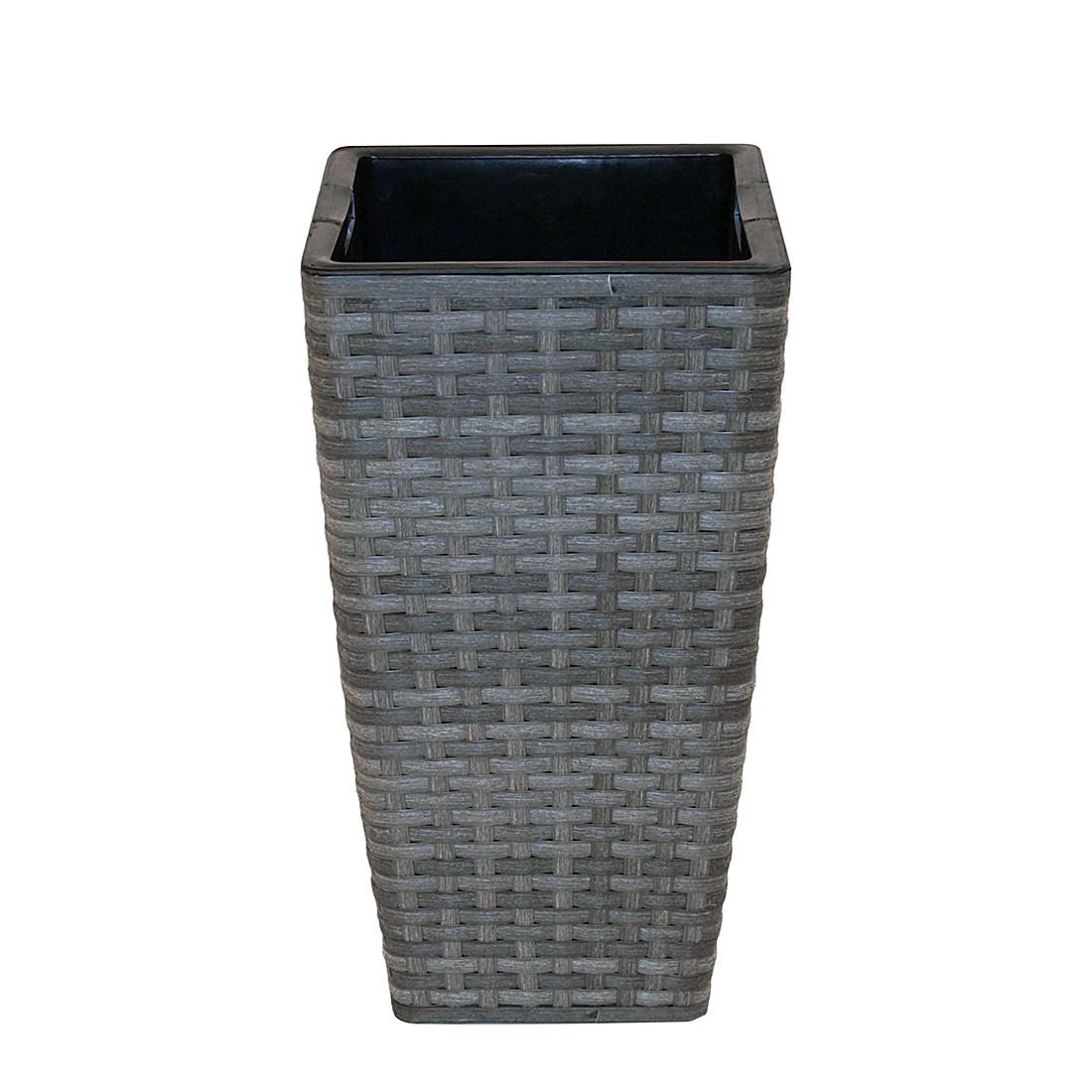Pflanzgefäß quadratisch – Grau, 27 x 27 cm, Flechtwaren Müller günstig kaufen