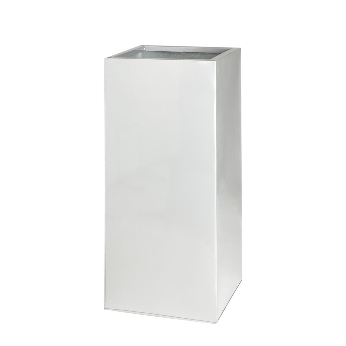 Pflanzkübel – 28 x 28 x 60 cm – Verzinkt – Silberfarben, Gartenfreude bestellen