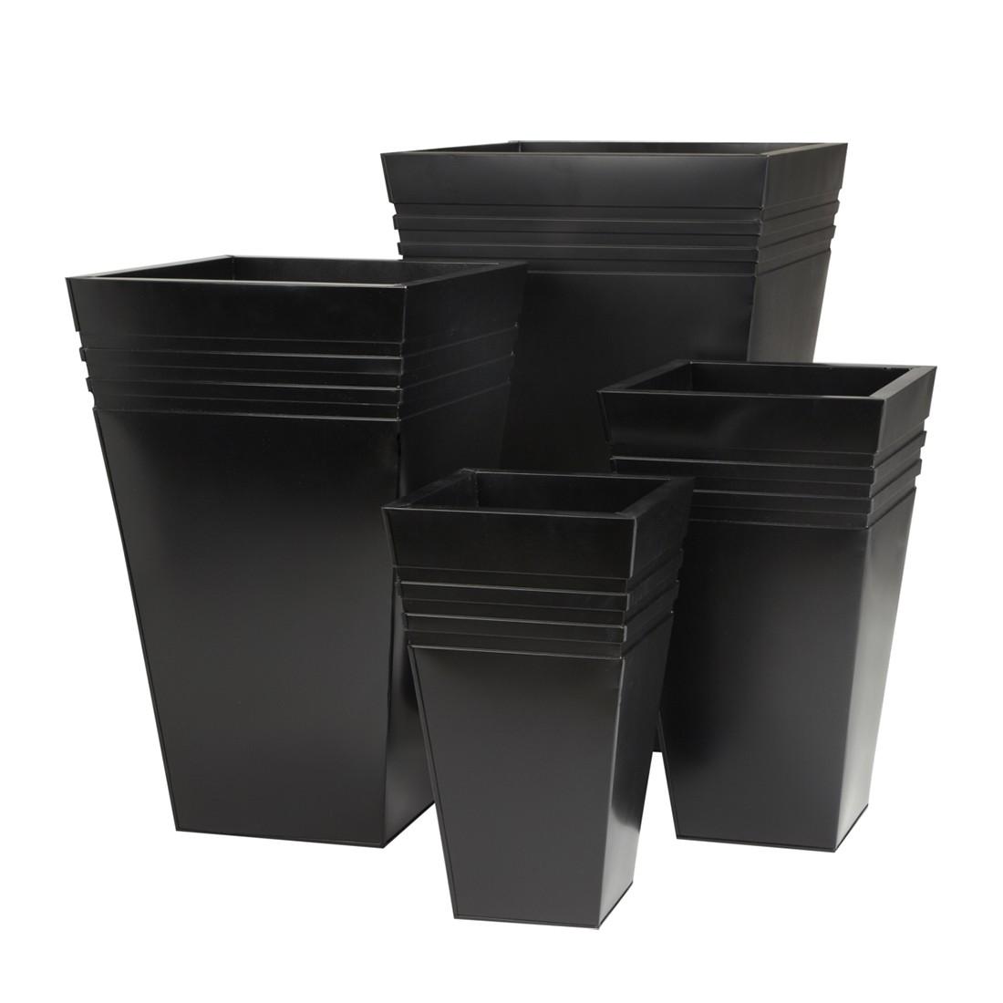 Pflanzkübel (4-teilig) – Verzinkt – Schwarz, Gartenfreude kaufen