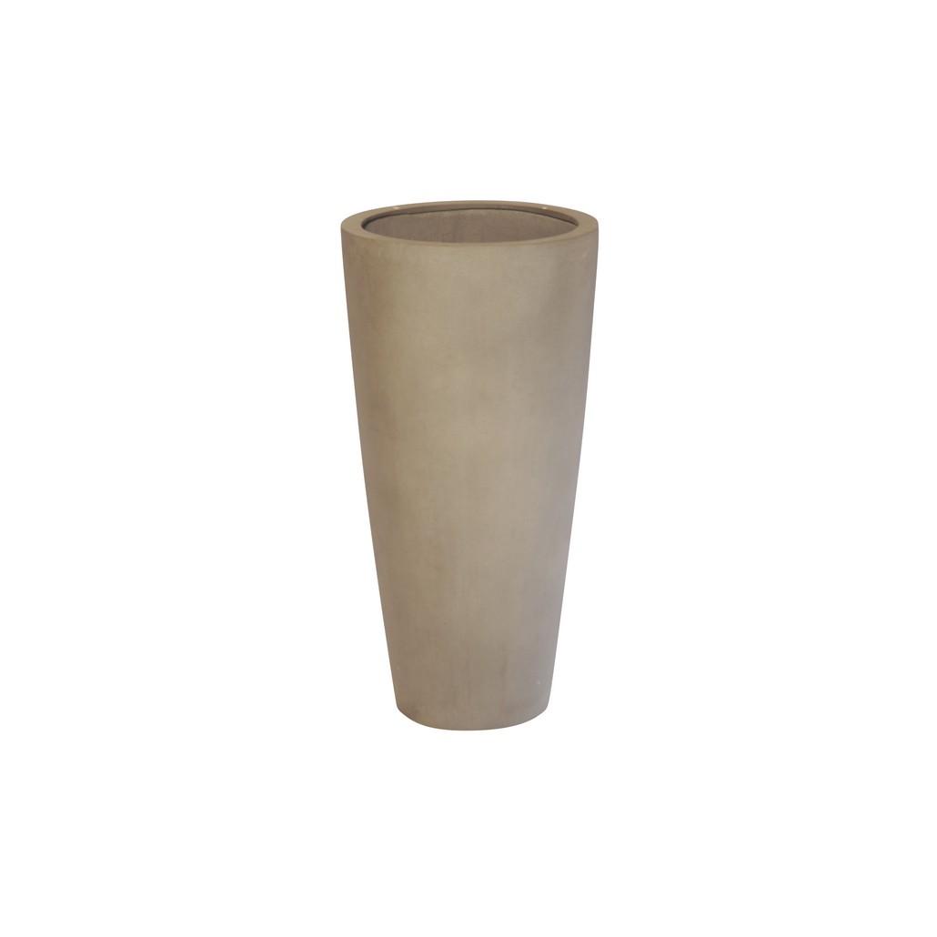 Pflanzkübel Cappuccino – Kunststoff – Classic Rund – Höhe: 80 cm Ø: 40 cm (einzeln), Viducci's Garden online kaufen