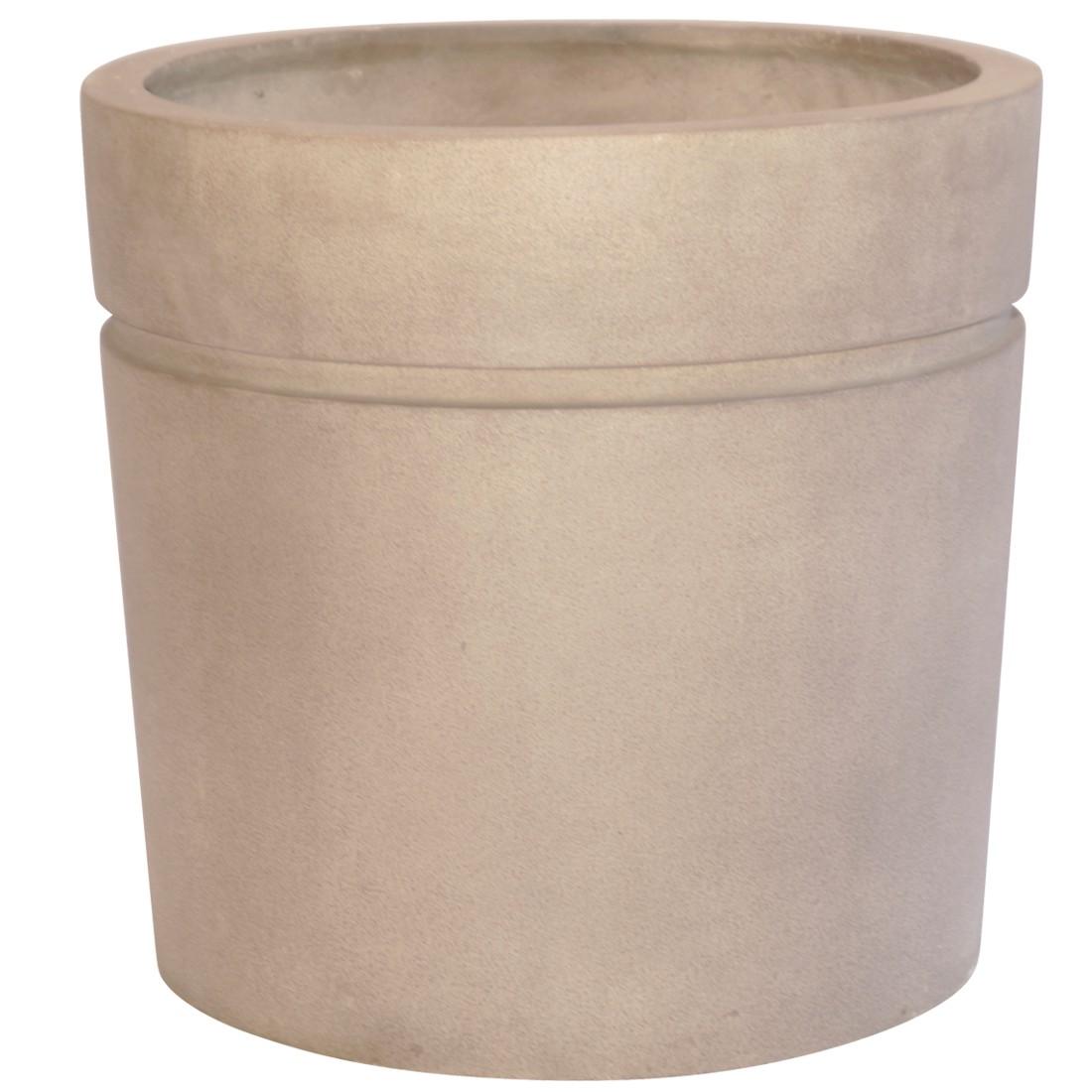 Pflanzkübel Cappuccino – Kunststoff – Desgin Eckig – Höhe: 74 cm Ø: 60 cm (einzeln), Viducci's Garden jetzt bestellen
