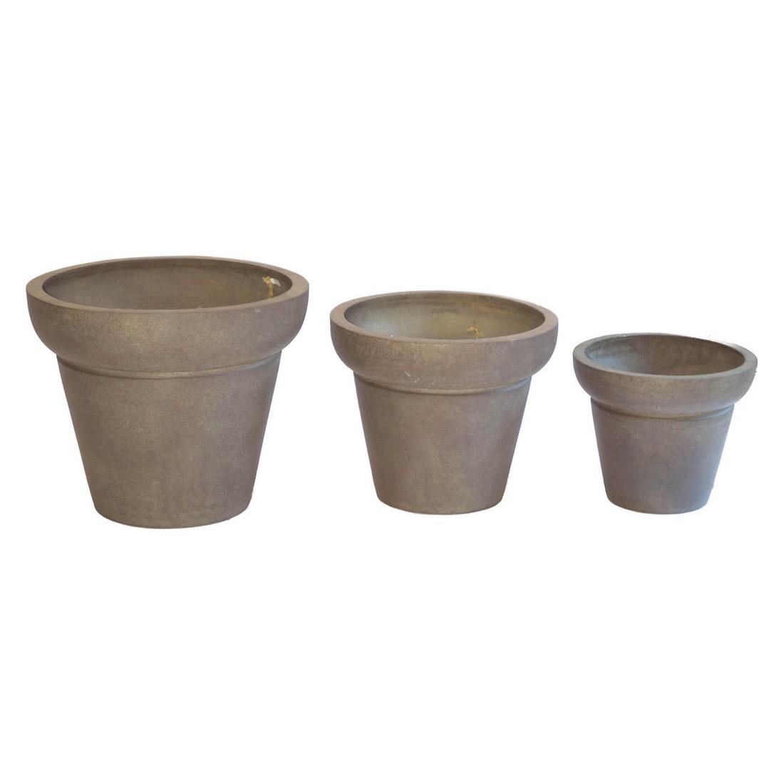 Pflanzkübel Cappuccino – Kunststoff – Design Rund City – Höhe: 41 cm Ø: 50 cm (einzeln), Viducci's Garden kaufen