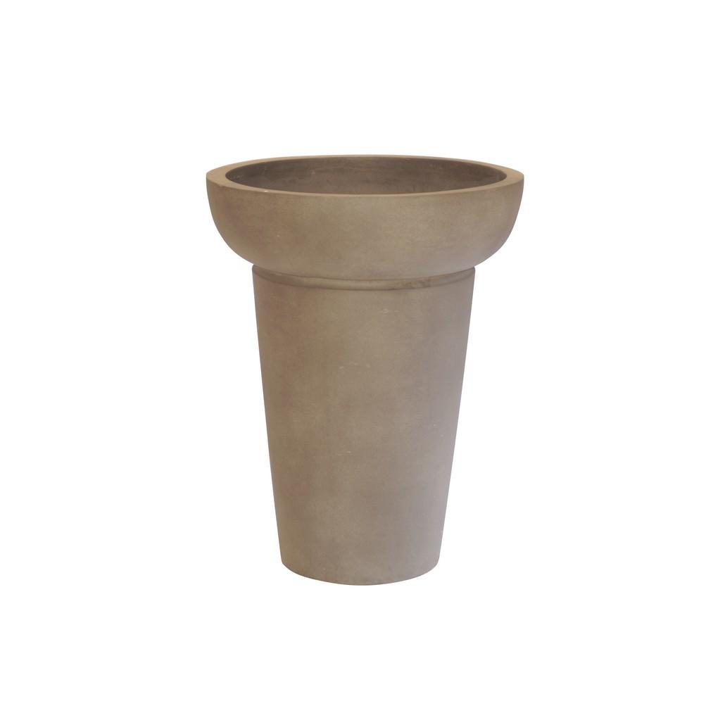 Pflanzkübel Cappuccino – Kunststoff – Design Rund Normal – Höhe: 69 cm Ø: 54 cm (einzeln), Viducci's Garden günstig kaufen