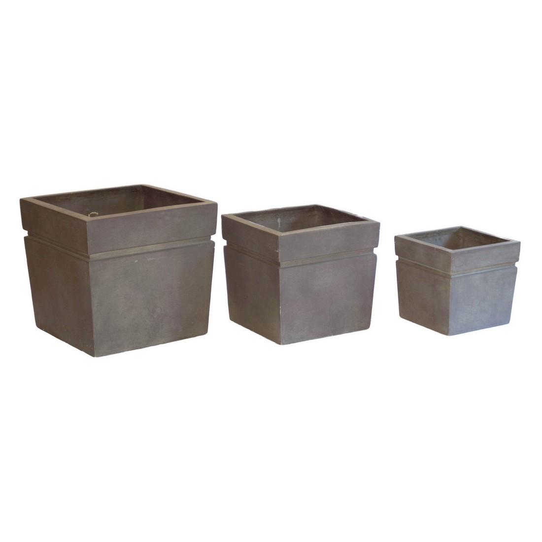 pflanzk bel cappuccino kunststoff modern eckig mittel h he 51 cm breit 55 cm einzeln. Black Bedroom Furniture Sets. Home Design Ideas