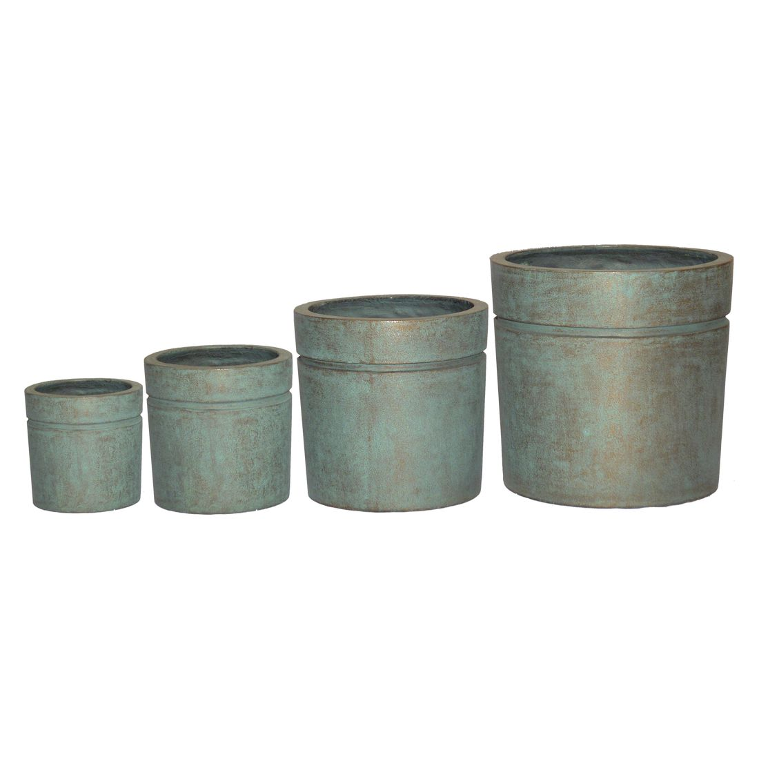 Pflanzkübel Copper Green – Kunststoff – Modern Eckig – 68 cm55 cm, Viducci's Garden jetzt bestellen