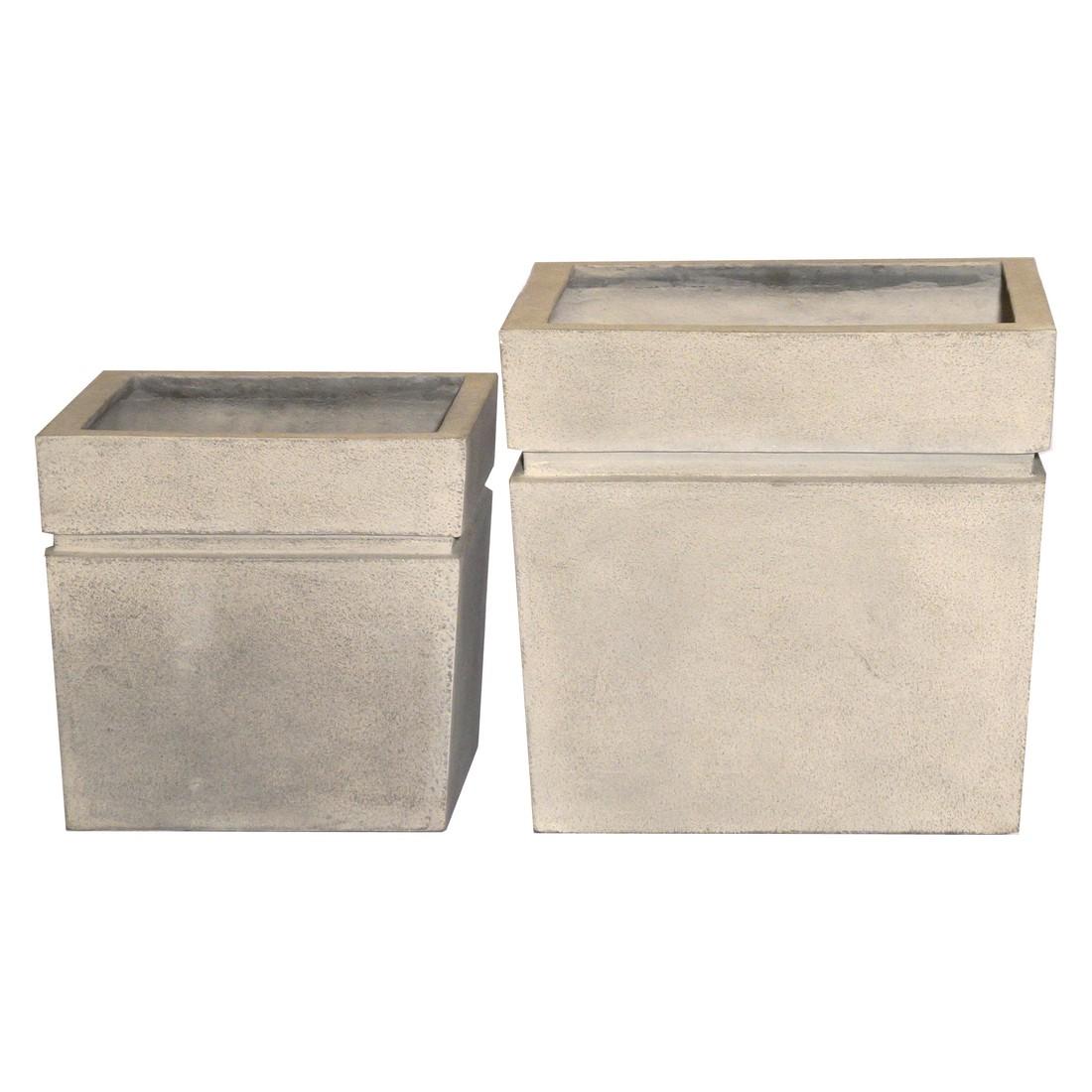 pflanzk bel cornish stone kunststoff modern eckig 56. Black Bedroom Furniture Sets. Home Design Ideas