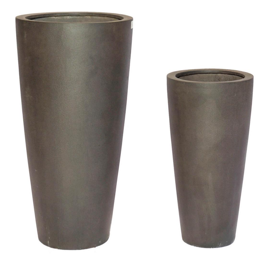 Pflanzkübel Espresso – Kunststoff – Classic Rund – Höhe: 60 cm Ø: 30 cm (einzeln), Viducci's Garden bestellen