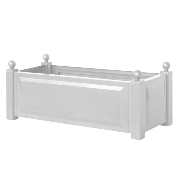 pflanzk bel florana ii kunststoff wei rechteckig ebay. Black Bedroom Furniture Sets. Home Design Ideas