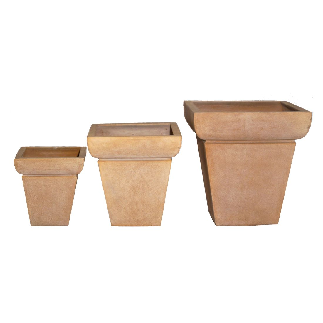 pflanzk bel isi cotto kunststoff terracota design eckig 3er set viducci 39 s garden online. Black Bedroom Furniture Sets. Home Design Ideas