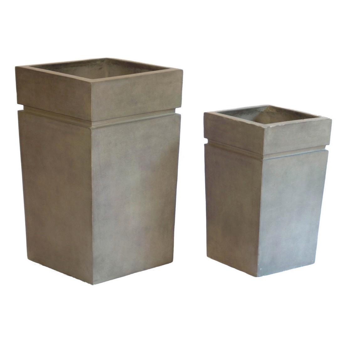 Pflanzkübel ISI Cotto – Kunststoff – Terracota – Modern Eckig – Höhe: 75 cm Breit: 45 cm (einzeln), Viducci's Garden jetzt kaufen