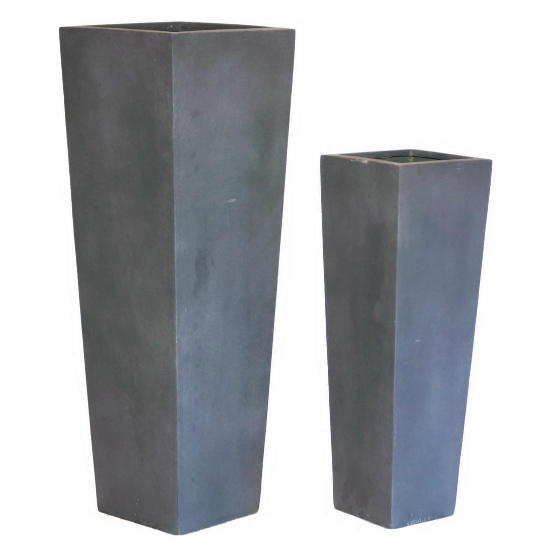Pflanzkübel ISI Lead – Kunststoff – Classic Eckig – Höhe: 90 cm Breit: 30 cm (einzeln), Viducci's Garden jetzt kaufen