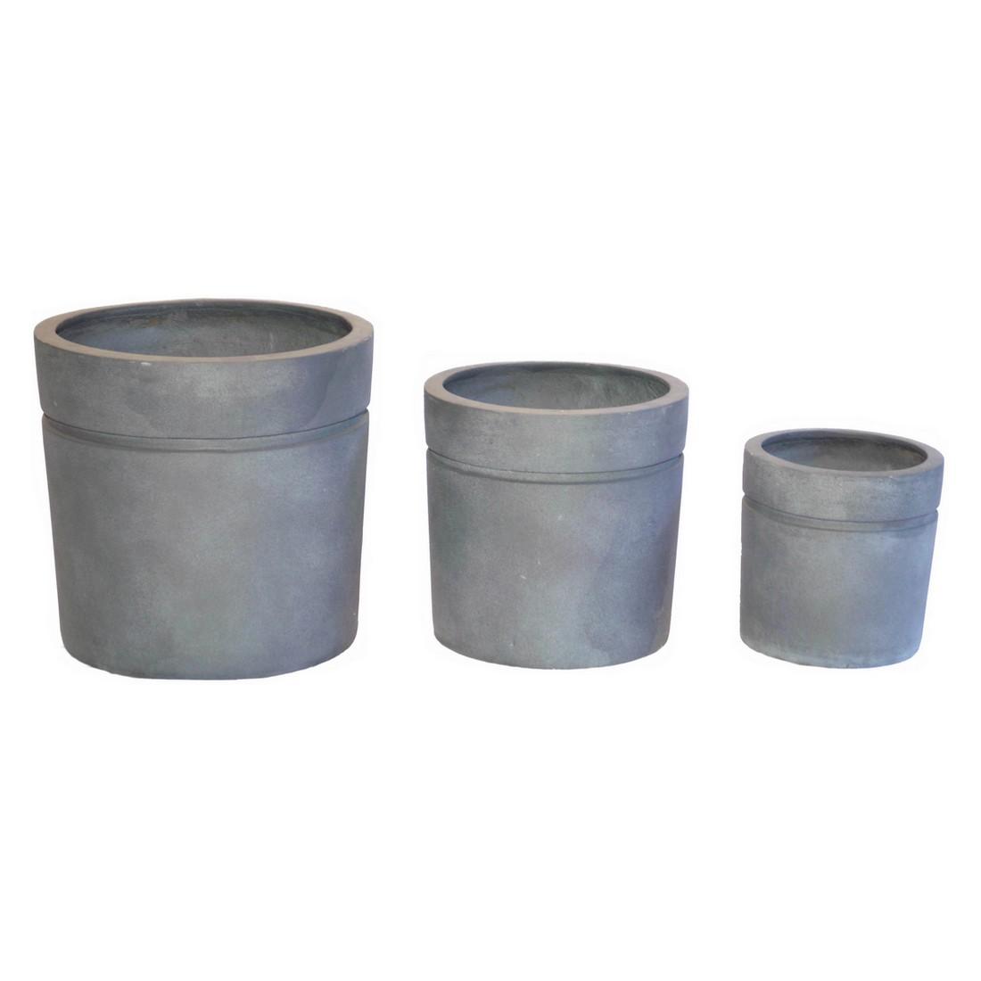 Pflanzkübel ISI Lead – Kunststoff – Desgin Rund – Höhe: 38 cm Ø: 40 cm (einzeln), Viducci's Garden günstig kaufen