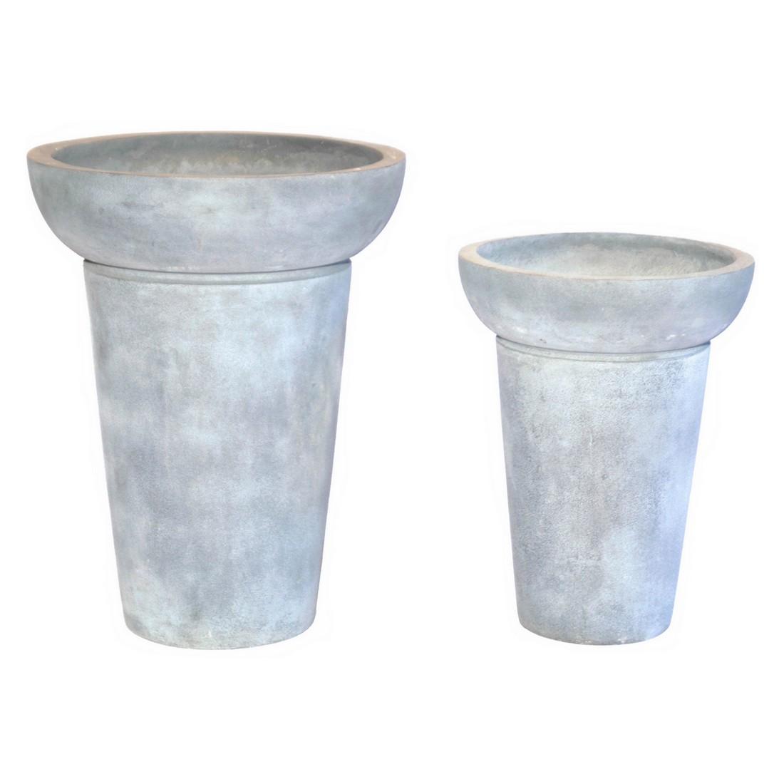 Pflanzkübel ISI Lead – Kunststoff – Design Rund Normal – Höhe: 55 cm Ø: 43 cm (einzeln), Viducci's Garden kaufen