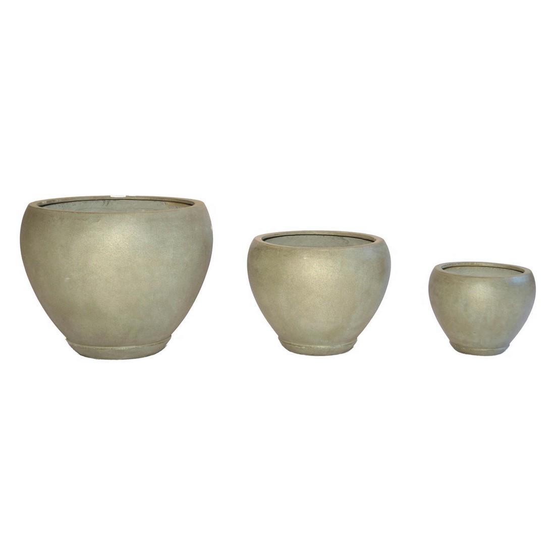 Pflanzkübel Moos – Kunststoff – Rund Trendy Klein – Höhe: 26 cm Ø: 33 cm (einzeln), Viducci's Garden bestellen