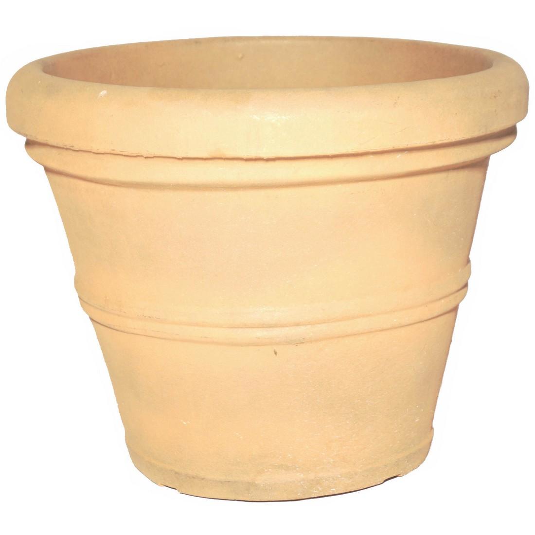 Pflanzkübel Rust – Kunststoff – Brunello – Höhe: 32 cm Ø: 41 cm (einzeln), Cresent Garden kaufen