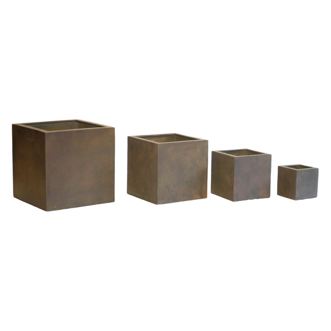 Pflanzkübel Rusty Iron – Kunststoff – Modern Eckig Normal – Höhe: 40 cm Breite: 40 cm (einzeln), Viducci's Garden online kaufen