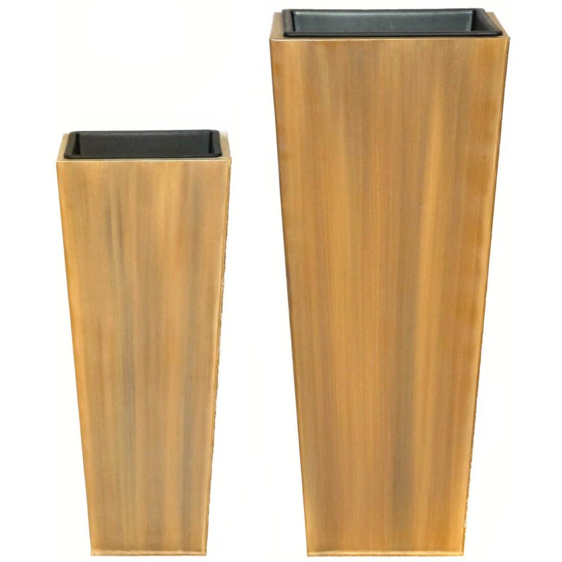 Pflanzkübel Wood – Zink – Big Sky – Höhe: 90 cm Breite: 39 cm (einzeln), Helmes Home & Garden jetzt bestellen