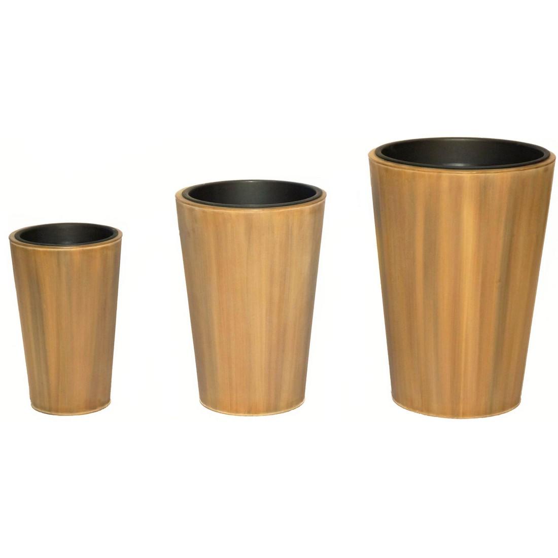 Pflanzkübel Wood – Zink – Sky – 3er-Set, Helmes Home & Garden kaufen