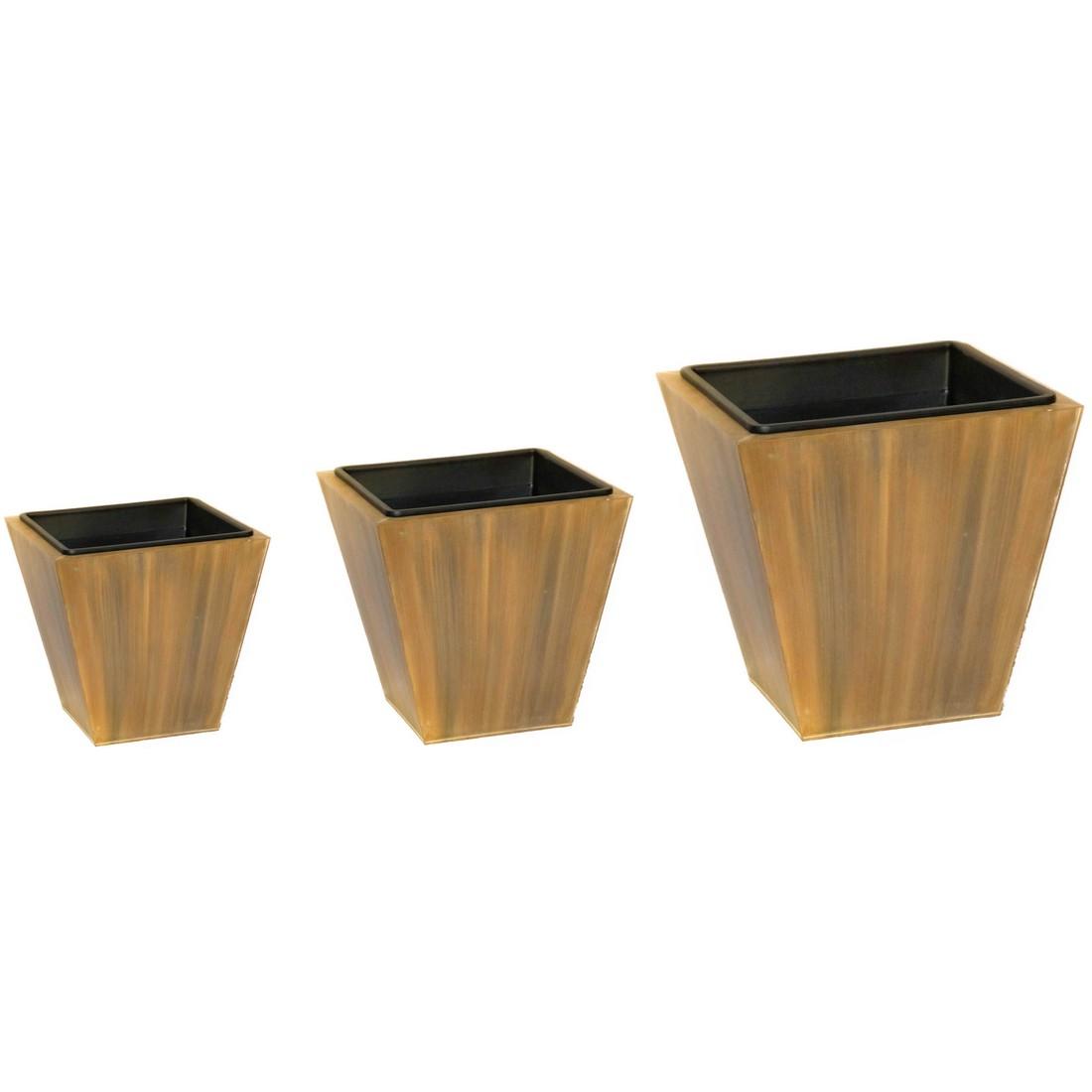 Pflanzkübel Wood – Zink – Sky – Höhe: 50 cm Breite: 48 cm (einzeln), Helmes Home & Garden online kaufen