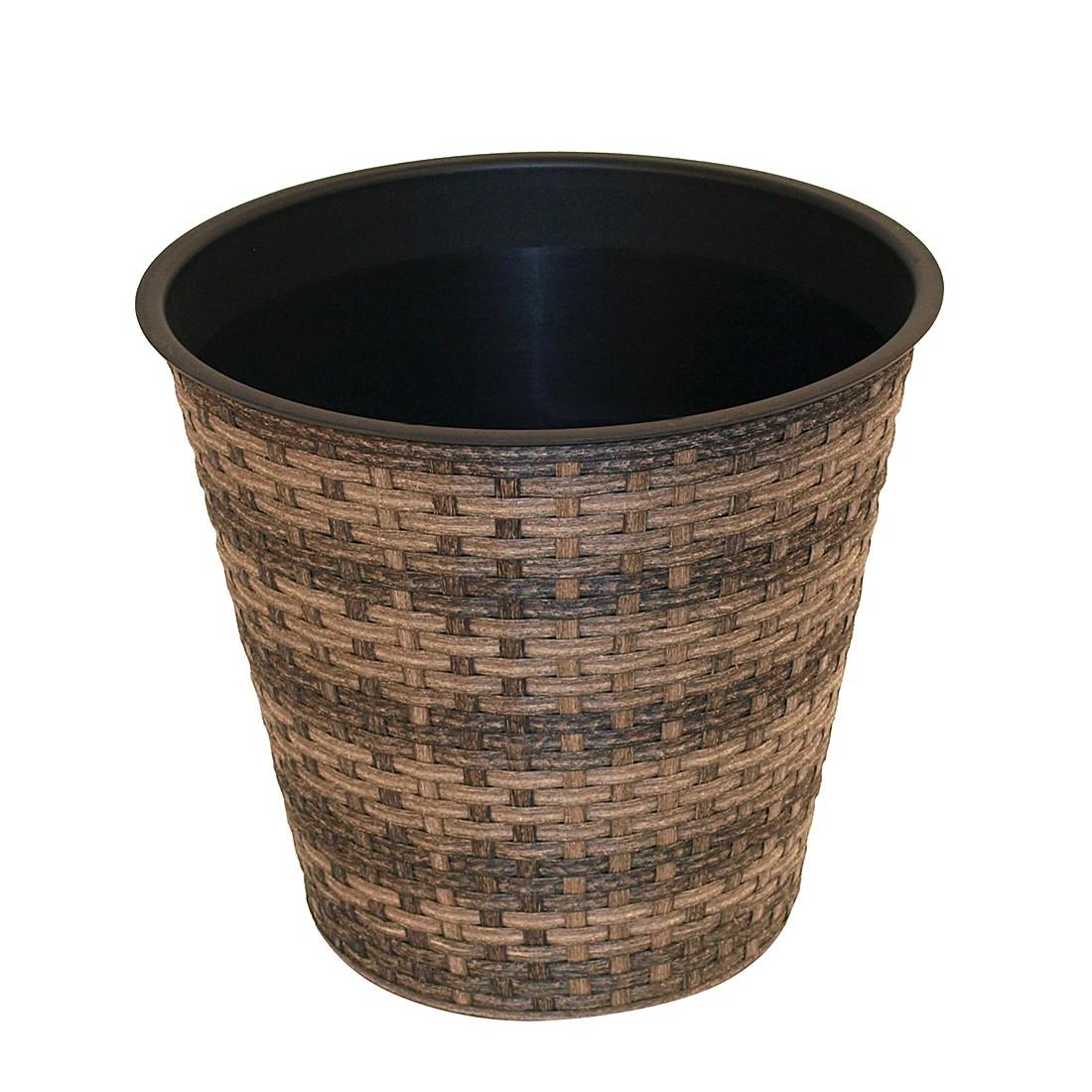 Pflanztopf rund – Braun, Ø 42 cm, Flechtwaren Müller günstig kaufen