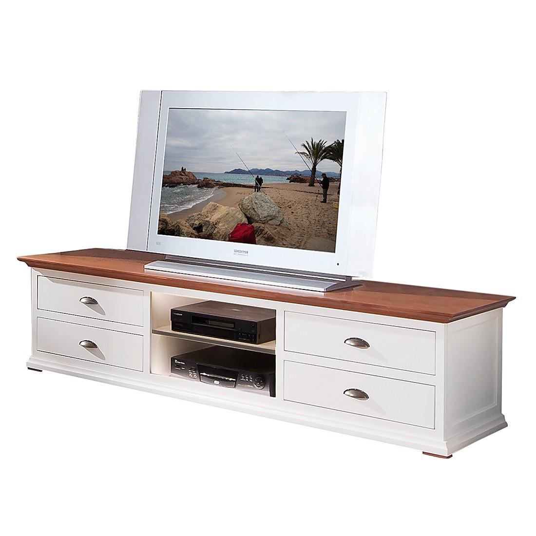 TV-Lowboard Vivienne (4 Schubladen) - Fichte massiv ...