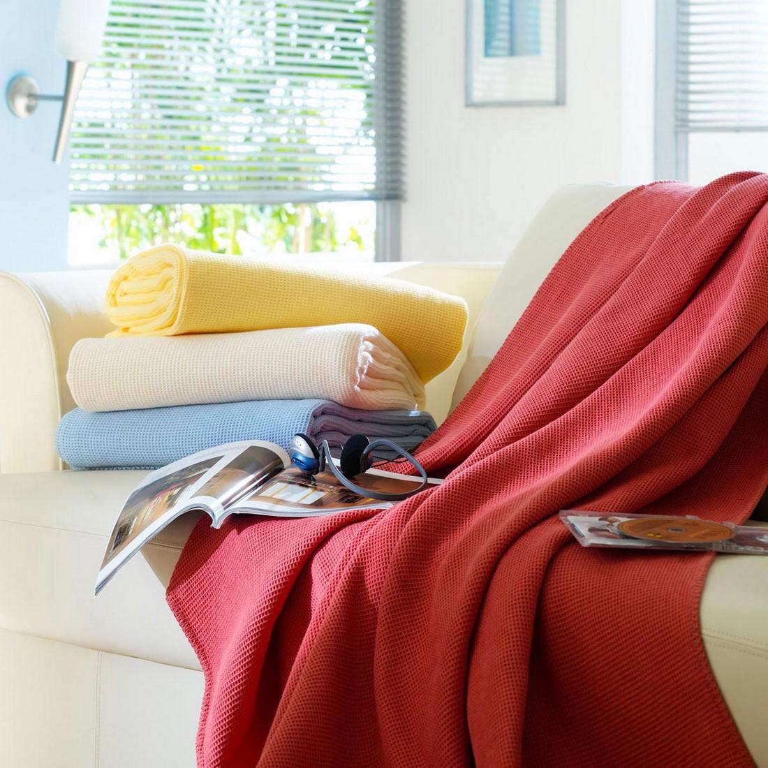 Piqué Baumwolldecke – 100% Baumwolle sonne – Ausführung 150×210 cm, Bettwaren-Shop jetzt bestellen