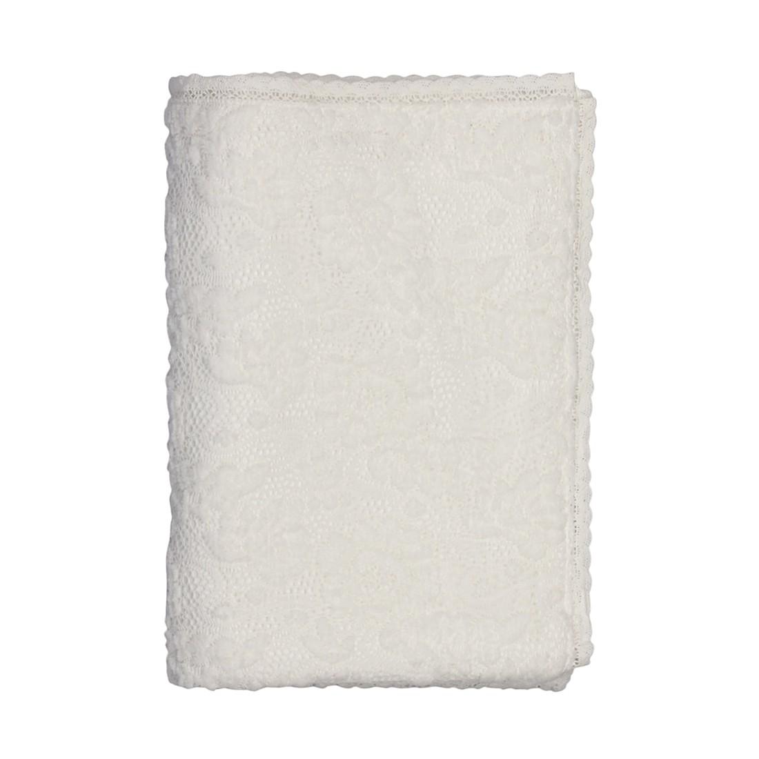Plaid Oviedo – 130 X 170 cm, Weiß, Polyester, Dutch Decor günstig bestellen