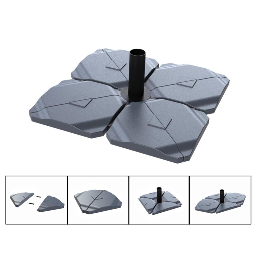 Platte Triangle To Fill für Schirmständer (2-teilig) - Anthrazit, Helcosol