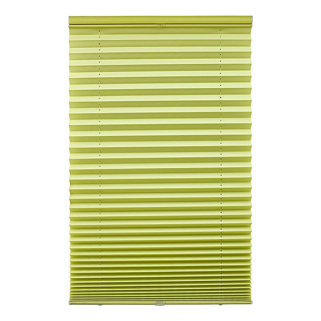 Plissee Klemmfix – Polyester, Metall Grün – (H x B): 130 x 80 cm, Wohn-Guide günstig