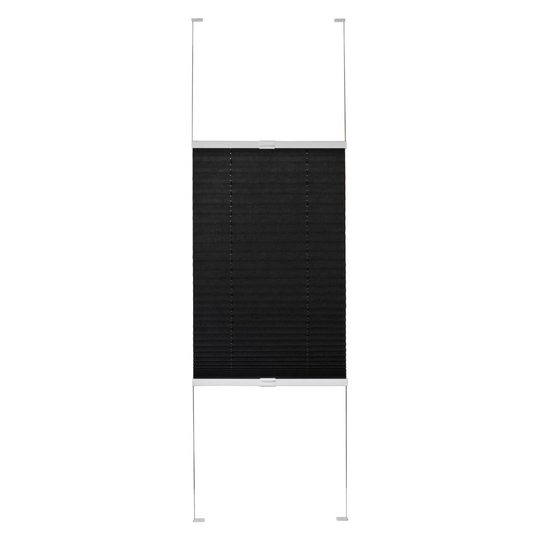 Plissee Tokio (Breite 100-200 cm) – verpannt – Anthrazit – Breite: 100 cm Höhe: 240 cm, Sandega online bestellen