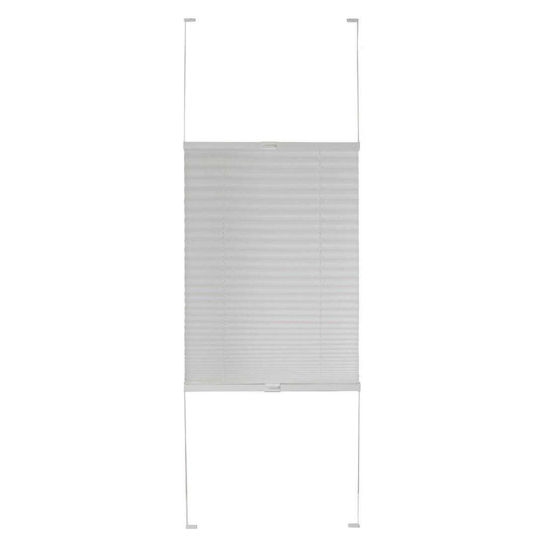 Plissee Tokio (Breite 100-200 cm) – verpannt – Weiß – Breite: 100 cm Höhe: 240 cm, Sandega günstig online kaufen
