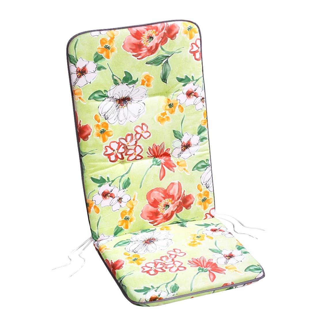 Polsterauflage Akelai – Floral gemustert – Mehrfarbig – Rollliege – 190 x 60 cm, Best Freizeitmöbel günstig kaufen