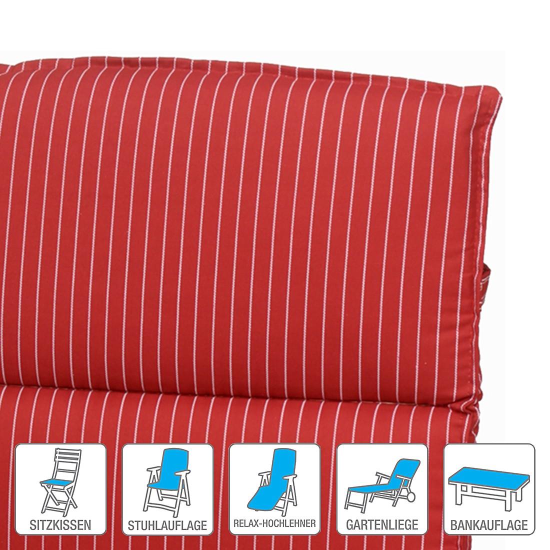 Polsterauflage Meersburg – Rot – Sitzkissen (2er-Set): 50 x 50 cm, Go-De jetzt bestellen