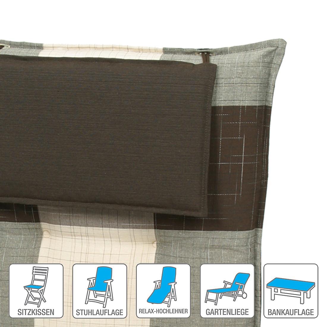 Polsterauflage Mühlingen – Braun/Beige – Sitzkissen (2er-Set): 50 x 50 cm, Go-De kaufen