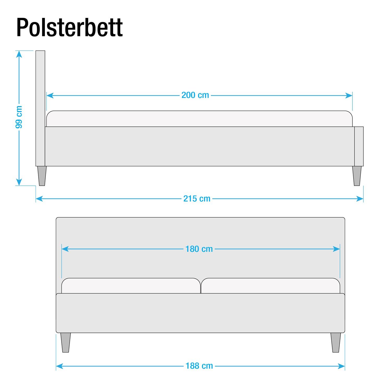 36 sparen polsterbett emser inklusive lattenrost von maison belfort nur 229 99 cherry m bel. Black Bedroom Furniture Sets. Home Design Ideas