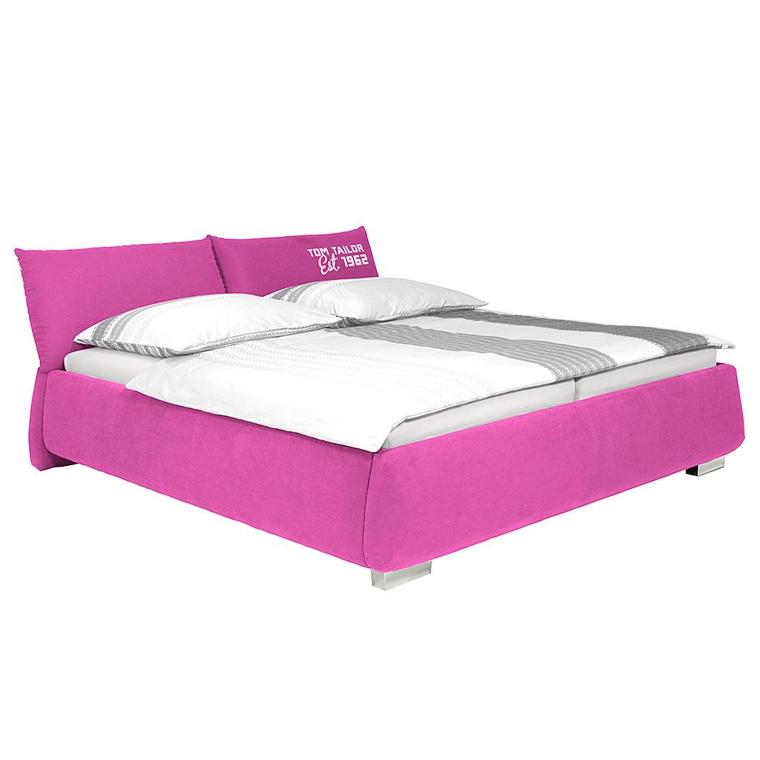 Polsterbett Soft Pillow – Webstoff – 160 x 200cm – Ohne Matratze – Ohne Matratze – Pink, Tom Tailor günstig