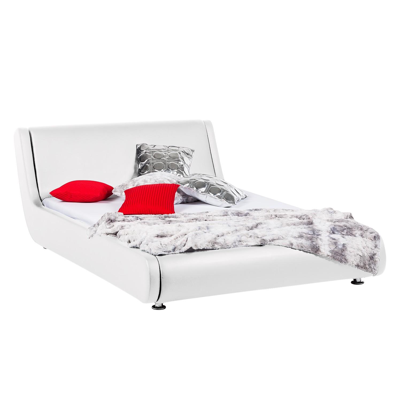 polsterbett tribeca kunstleder 140 x 200cm schwarz. Black Bedroom Furniture Sets. Home Design Ideas
