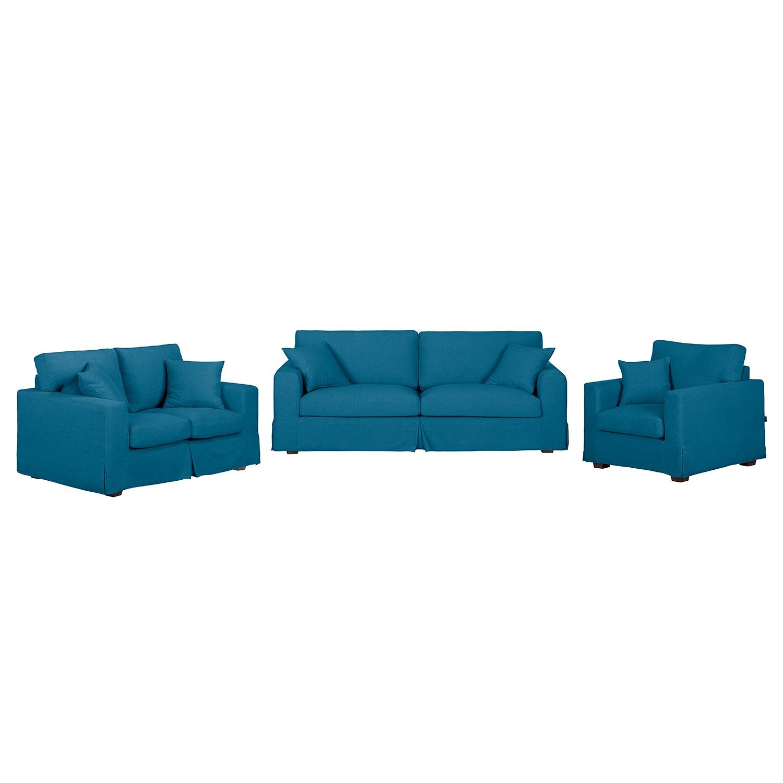 Polstergarnitur Alvito II (3-2-1) – Webstoff – Jeansblau, Jack and Alice online bestellen